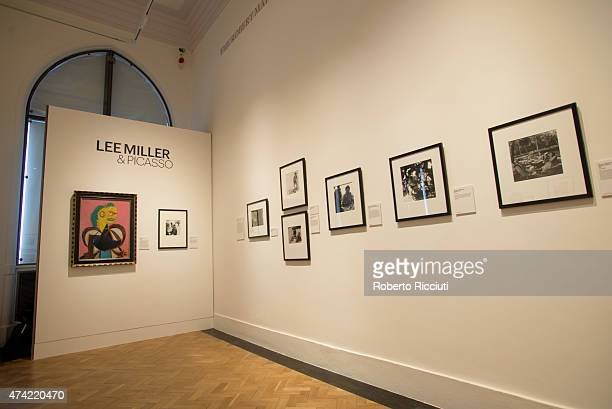 General view of a press launch of the new exhibition 'Lee Miller and Picasso' at Scottish National Portrait Gallery on May 21 2015 in Edinburgh...