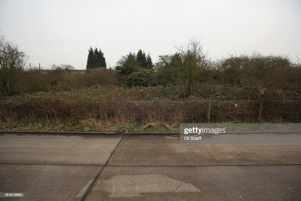 A general view of a proposed new travellers site close to the Dale Farm traveller's camp, a portion of which was cleared of residents and structures by Basildon Council on February 13, 2013 in Crays Hill, England. Basildon Council have approved a new site to accommodate the displaced travellers, which lies less than 800 meters from Dale Farm. Following Basildon Council's eviction in October 2011, which was estimated to have cost 7 million GBP, many travellers now reside on the access road for the legal portion of the Dale Farm site.