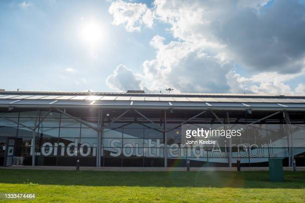 General view of a quiet London Southend Airport after Ryanair announced its withdrawal on August 10, 2021 in Southend, England. The airport's owners...