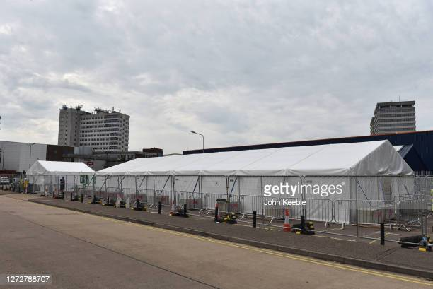 A general view of a quiet walk in Covid19 testing facility on September 16 2020 in Southend on Sea England The Department Of Health has appealed to...