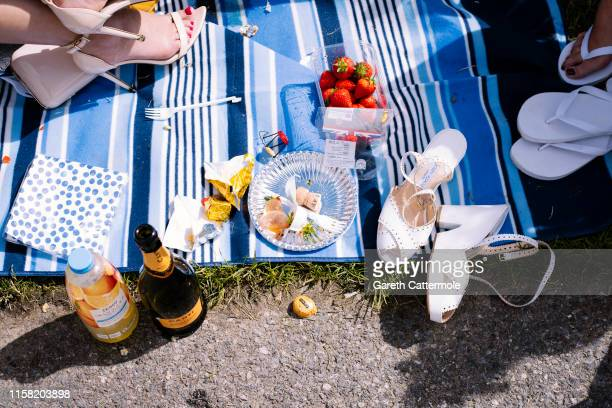 General view of a racegoers picnic during day three of Royal Ascot at Ascot Racecourse on June 20, 2019 in Ascot, England.
