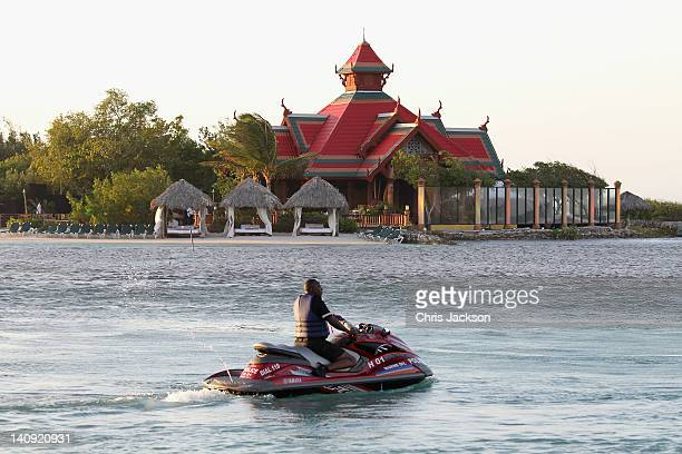 A general view of a reception on a private island at Sandals Resort on March 7 2012 in Montego Bay Jamaica Prince Harry is in Jamaica as part of a...