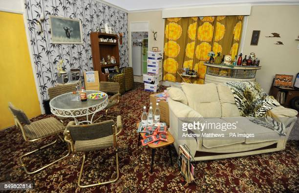 General view of a replica of the Trotters' living room in the 'Only Fools and Horses' Refit with George Clarke exhibition stand at the Ideal Homes...