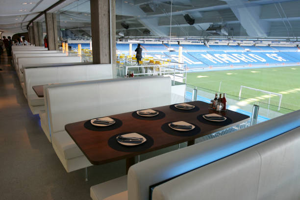 Real madrid the stadium photos and images getty images for Puerta 6 santiago bernabeu