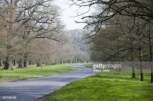 General View Of A Road In The Village Of Bucklebury Berkshire The Home Of Kate Middleton'S Parents Michael And Carole Middleton