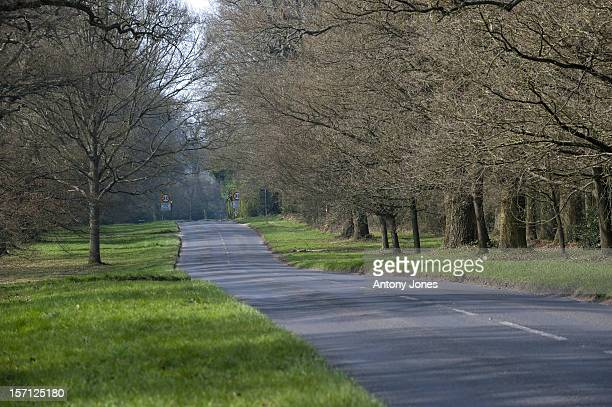 General View Of A Road In The Village Of Bucklebury, Berkshire, The Home Of Kate Middleton'S Parents Michael And Carole Middleton.