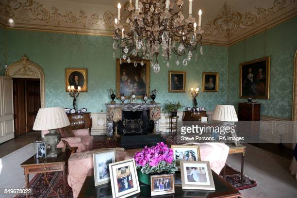 General view of a room at Highclere Castle near Newbury in Berkshire