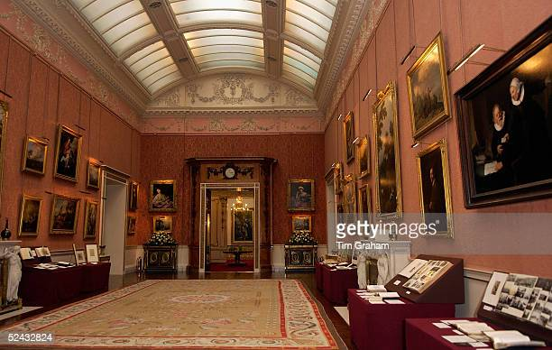 A general view of a room containing fine art at Buckingham Palace where the Queen showed Italian items from The Royal Collection to Carlo Ciampi...