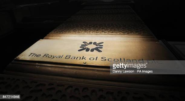A general view of a Royal Bank of Scotland branch in Glasgow Scotland as the taxpayerbacked bank remained at the heart of the row over bankers' pay...