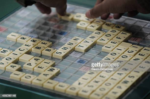 A general view of a Scrabble board during rounds 1 to 3 of the 24round Scrabble Champions Tournament during the Mind Sports International World...