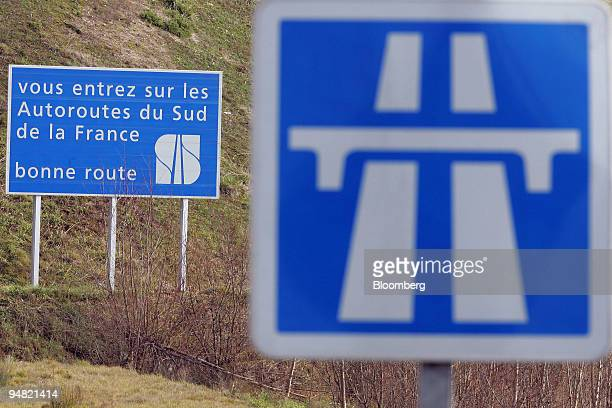 General view of a section of the Autoroutes du Sud de la France in Arveyres near Bordeaux France Monday January 16 2006