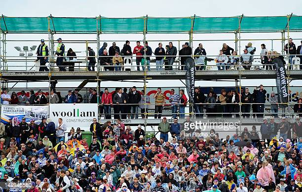 A general view of a section of the crowd before the start of the round 16 NRL match between the Canterbury Bulldogs and the Melbourne Storm at Virgin...