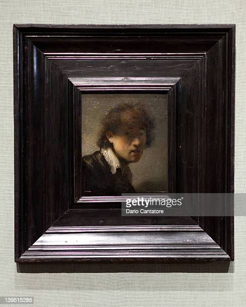 A general view of a self portrait by the artist Rembrandt van Rijn during the 'The Steins Collect Matisse Picasso and the Parisian AvantGarde' press...