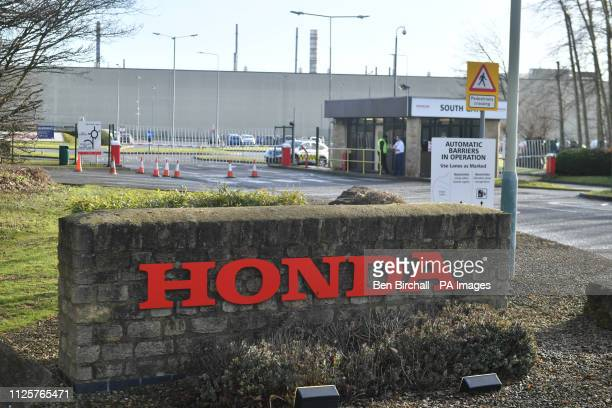 A general view of a sign outside the Honda plant in Swindon which the company has confirmed will close in 2021 with the loss of 3500 jobs