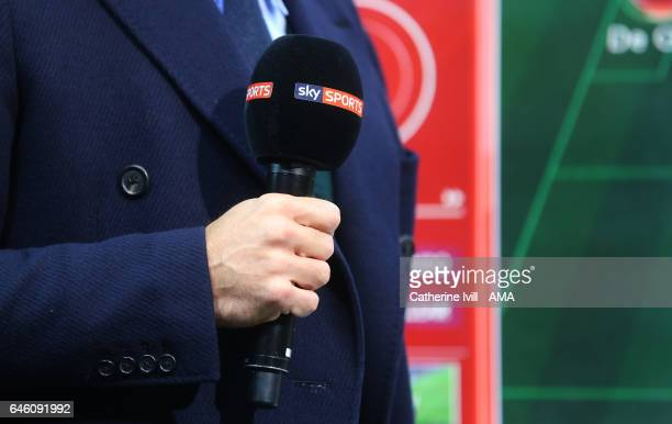 General view of A Sky Sports television microphone during the EFL Cup Final match between Manchester United and Southampton at Wembley Stadium on...