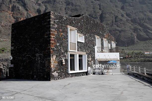 A general view of a small hotel in Las Puntas on El Hierro Island January 13 2010 in El Hierro Island Spain The island inspired and features in the...