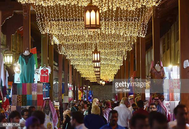 General view of a souk in Deira on January 4 2017 in Dubai United Arab Emirates