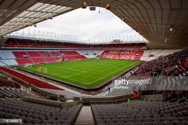 A general view of a sparsely populated stadium during the FA Cup match between Sunderland and Gillingham at the Stadium Of Light Sunderland on...