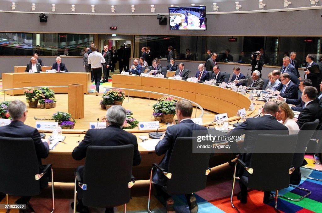 EU's Brexit Summit in Beligum : News Photo