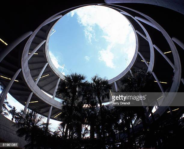 General view of a spiral walkway from below at DHL Pro Player Stadium during a game between the Buffalo Bills and the Miami Dolphins on December 5...