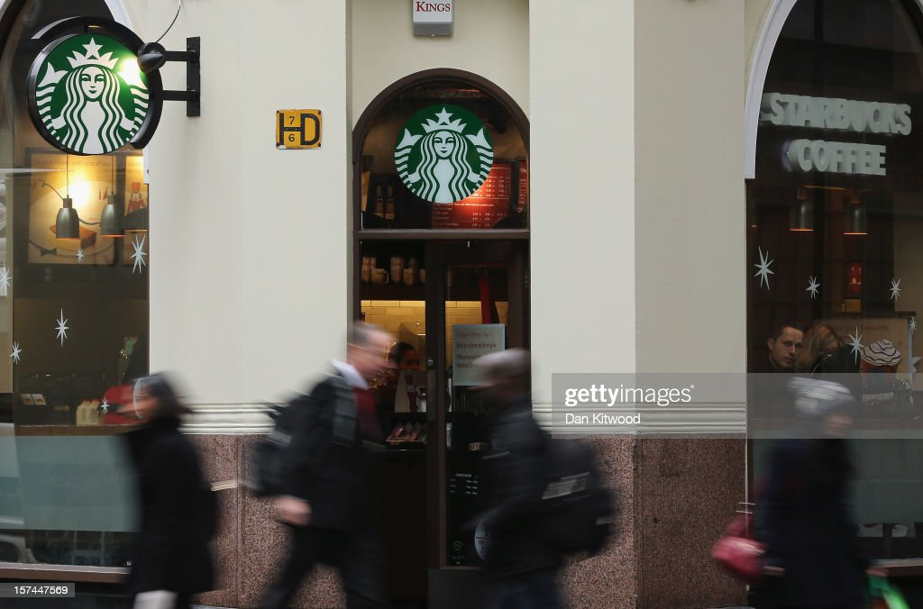 A general view of a Starbucks coffee shop on December 3, 2012 in London, England. The coffee chain has announced that it is looking to pay more tax after it emerged that they have been legally avoiding paying their share in the UK along with other companies such as Google, and Amazon. The Chancellor George Osborne is likely to announce tougher measures on companies engaged in tax avoidance schemes when he delivers his autumn statement on Wednesday.