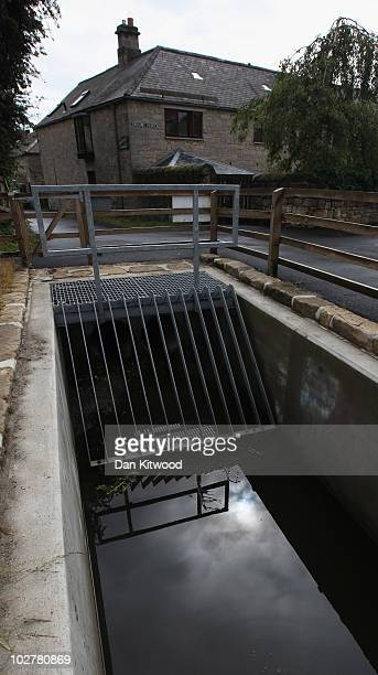 General view of a storm drain which Raoul Moat is believed to have used to help evade police capture for seven days on July 10, 2010 in Rothbury,...