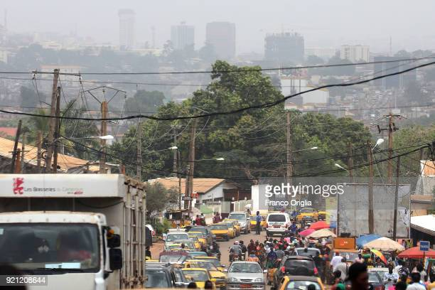 General view of a street in Yaounde on Februray 17, 2018 in Yaounde,Cameroon.