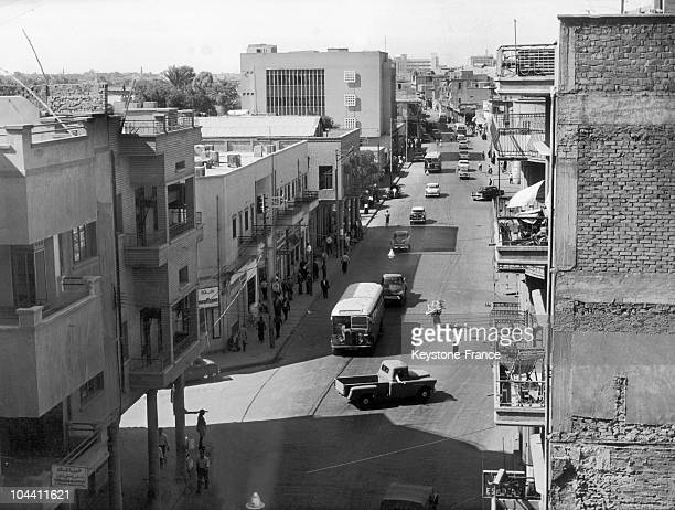 A general view of a street of Baghdad