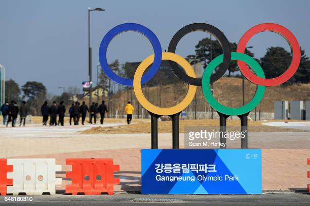 A general view of a street scene near the Gangneun Coastal Cluster host of the Pyeongchang 2018 Winter Olympic Games on February 28 2017 in Gangneun...