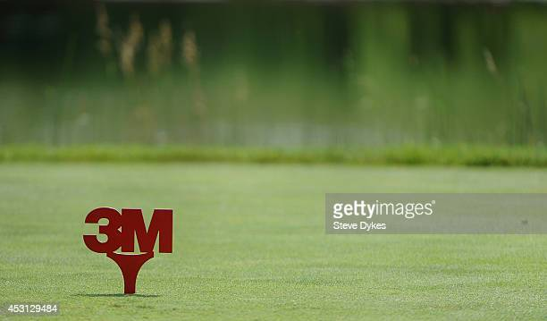 General view of a tee box marker on the 18th hole during the final round of the 3M Championship at TPC Twin Cities on August 3 2014 in Blaine...