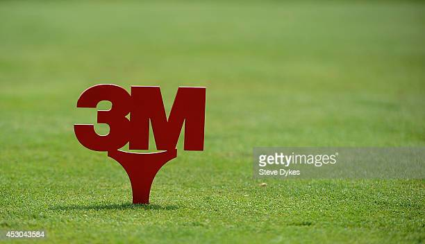 General view of a tee box marker on the seventh hole during the first round of the 3M Championship at TPC Twin Cities on August 1 2014 in Blaine...