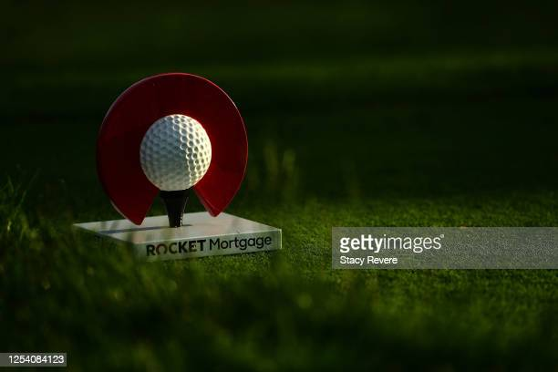 General view of a tee marker during the second round of the Rocket Mortgage Classic on July 03, 2020 at the Detroit Golf Club in Detroit, Michigan.
