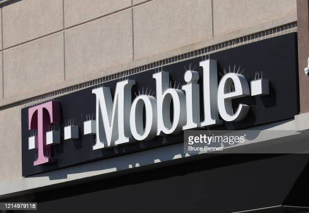 General view of a T-Mobile store on March 26, 2020 in Deer Park, New York. Across the country schools, businesses and places of work have either been...