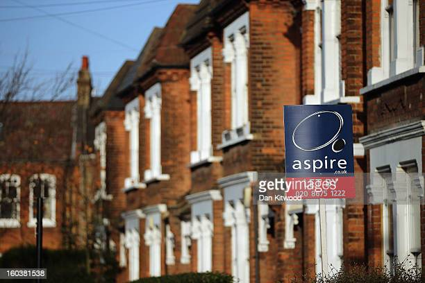 A general view of a To Let sign next to property near Clapham on January 30 2013 in London England According to a report from independent analysts...