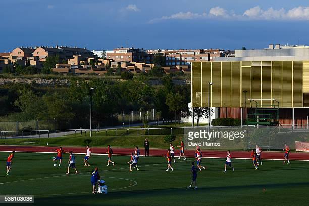 General view of a training session at La Ciudad Del Futbol de las Rozas on June 4 2016 in Madrid Spain
