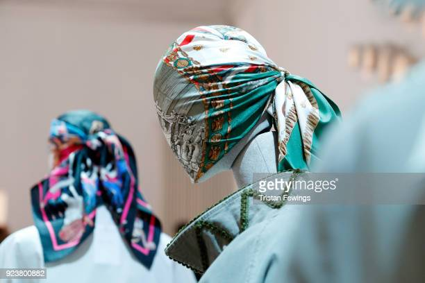 A general view of a two design at the Rossella Jardini presentation during Milan Fashion Week Fall/Winter 2018/19 on February 24 2018 in Milan Italy