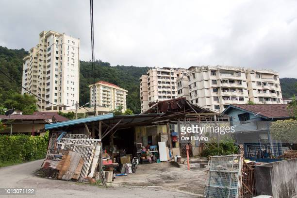General view of a village in Air Itam that forms part of the 234 acre land acquired by the 1MDB fund on August 1 2018 in Penang Malaysia Originally...