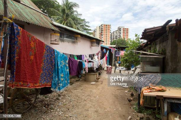 General view of a village in Kampung Pisang the site of a 234 acre land acquired by the 1MDB fund on July 31 2018 in Penang Malaysia Originally...