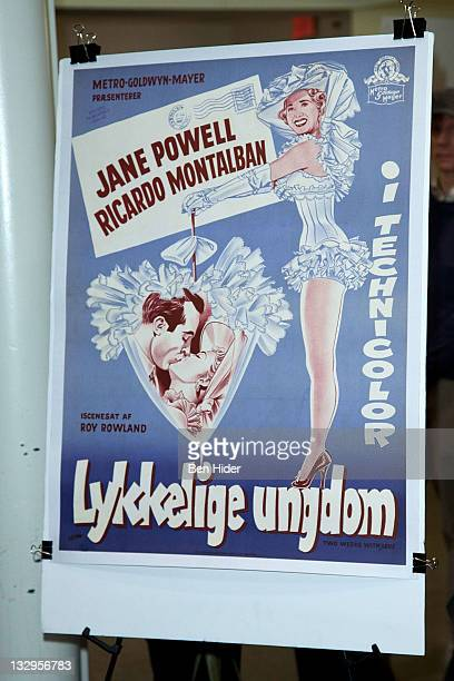 A general view of a vintage Movie poster at An Evening With Jane Powell at The Film Society of Lincoln Center Walter Reade Theatre on November 15...