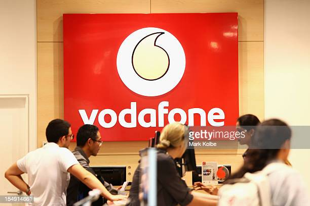 General view of a Vodafone city store is seen on October 29, 2012 in Sydney, Australia. Vodafone Australia announced that it will shed jobs, believed...