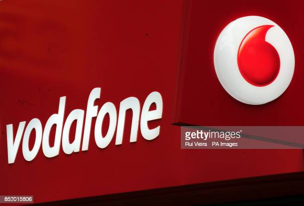 General view of a Vodafone shop and logo in Birmingham