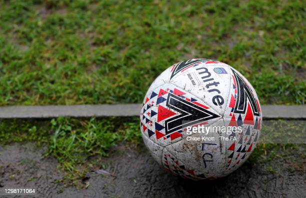 General view of a Women's Championship match sat ball pitch side during the Barclays FA Women's Championship match between London City Lionesses and...