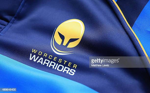 A general view of a Worcester Warriors home shirt during a photocall held at Sixways Stadium on September 23 2015 in Worcester England