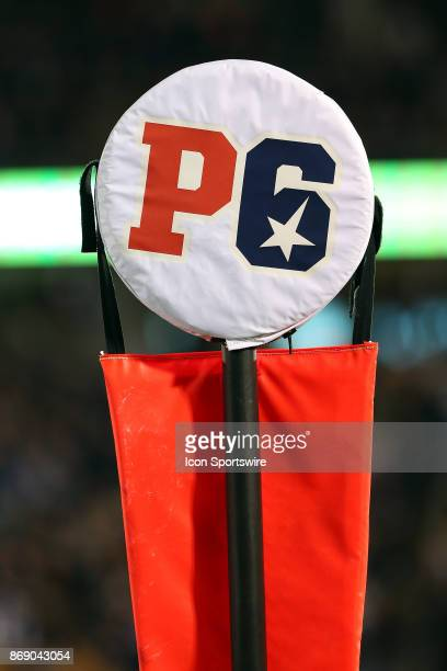 A general view of a yardstick with a power 6 conference cover during a college football game between Missouri Tigers and UConn Huskies on October 28...
