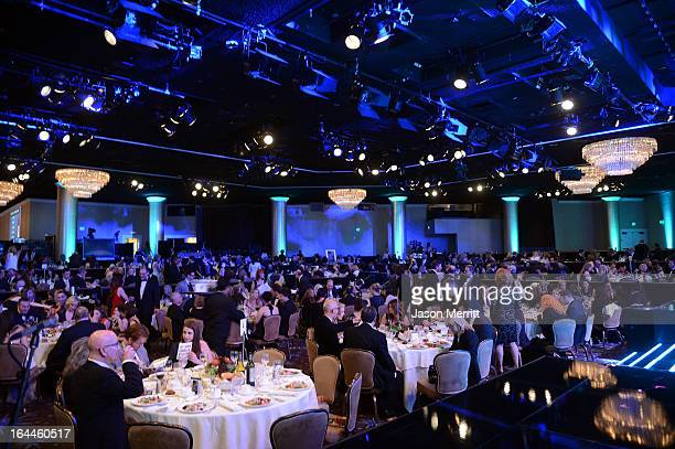 A general view of aatmosphere at The Humane Society of the United States 2013 Genesis Awards Benefit Gala at The Beverly Hilton Hotel on March 23...