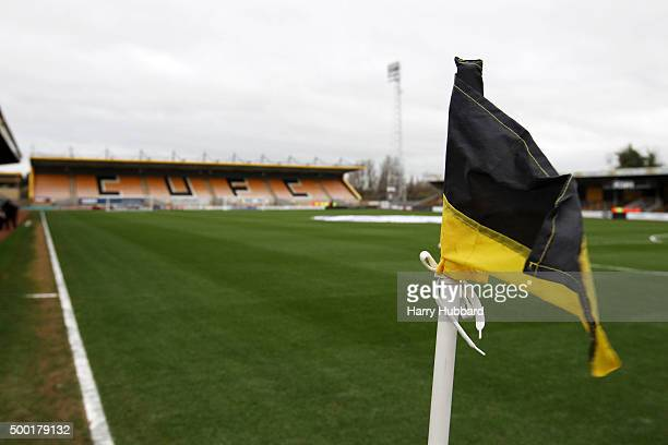 General View of Abbey Stadium before the Emirates FA Cup Second Round match between Cambridge United and Doncaster Rovers at Abbey Stadium on...