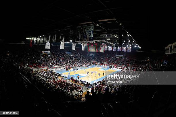 A general view of Abdi Ipekci Arena during the Turkish Airlines Euroleague Basketball Top 16 Date 13 game between Anadolu Efes Istanbul v EA7 Emporio...