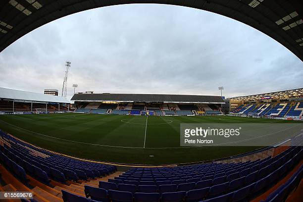 A general view of Abex Stadium prior to the Sky Bet League One match between Peterborough United and Northampton Town at ABAX Stadium on October 18...
