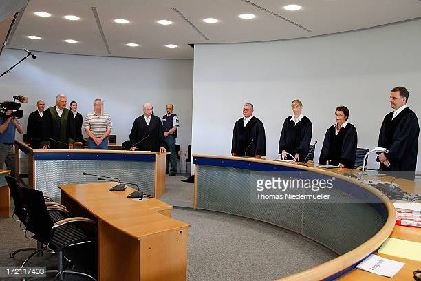 General view of accused Russian spies with the aliases Andreas and Heidrun Anschlag appear in court on the last day of their trial on July 2 2013 in...