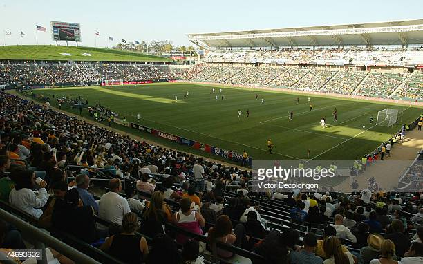 A general view of action as the Los Angeles Galaxy host Real Salt Lake during their MLS match at the Home Depot Center on June 17 2007 in Carson...